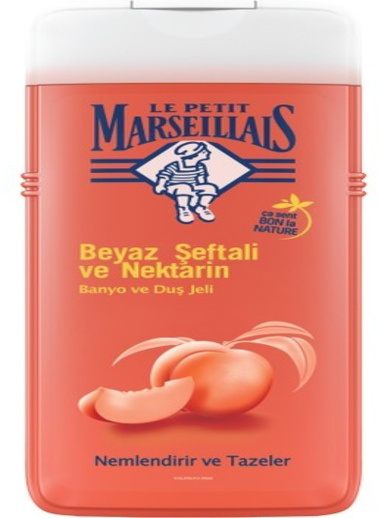 Le Petit Marseilials Le Petit Marseillais Duş Jeli Beyaz Şeftali & Nektarin 650 m Renksiz